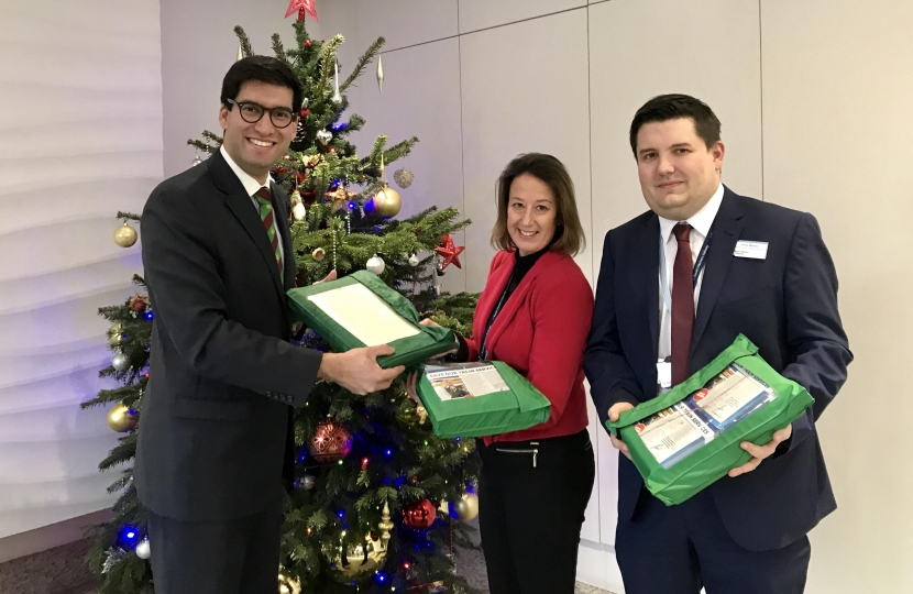 Ranil Jayawardena MP hands over the consultation response