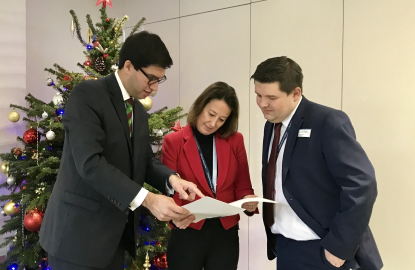 Ranil Jayawardena MP and SWR representatives consider the consultation response