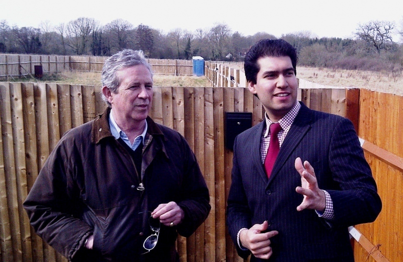 Cllr Rhydian Vaughan and Ranil Jayawardena MP striving to enforce the law.