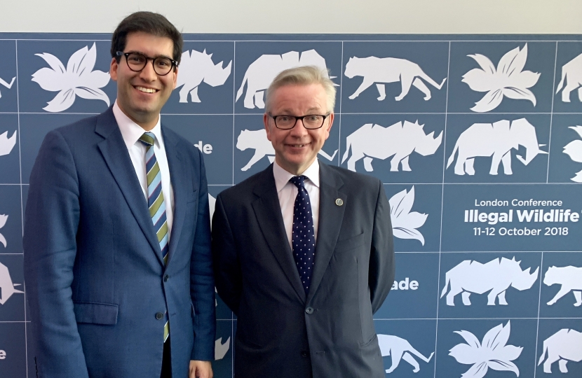Ranil Jayawardena MP with Rt Hon Michael Gove MP