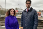 Bramley Station with Cllr Hayley Eachus