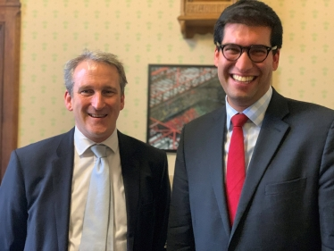 Ranil Jayawardena MP with Rt Hon Damian Hinds MP
